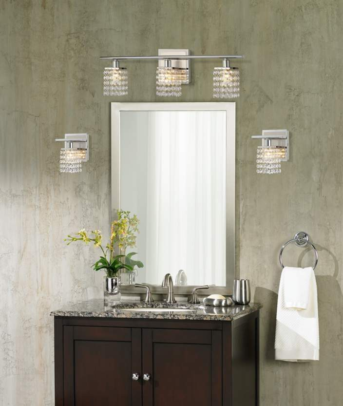 Sparkle Lamps Option Colorful Bathroom With Crystal ...